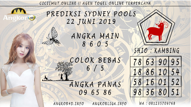 PREDIKSI SYDNEY POOLS 22 JUNI 2019