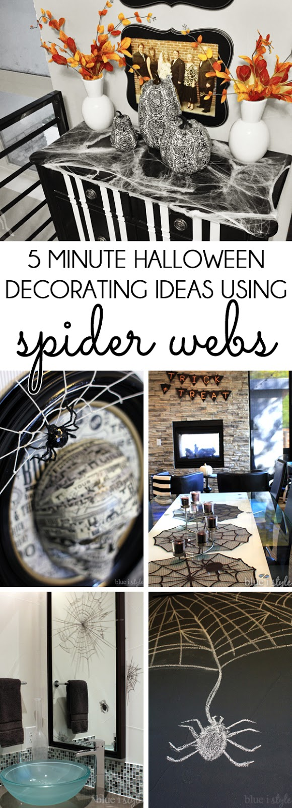 Halloween Decorating with Spider Webs