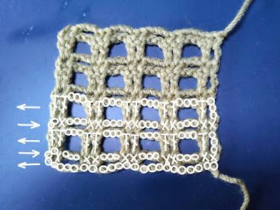 ダブルネット,方眼編み,double net, net crochet, 双线网格,钩织方格,