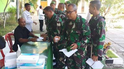 Ratusan Prajurit Kodim Gianyar Jalani Tes Urine