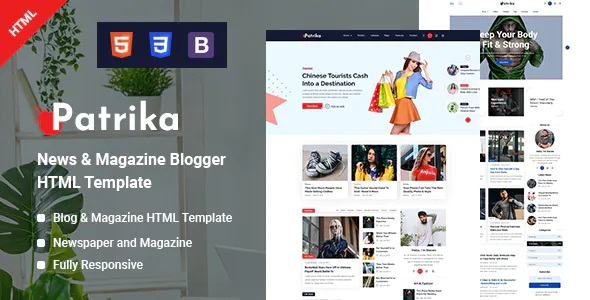 Best News and Magazine Blogger HTML Template