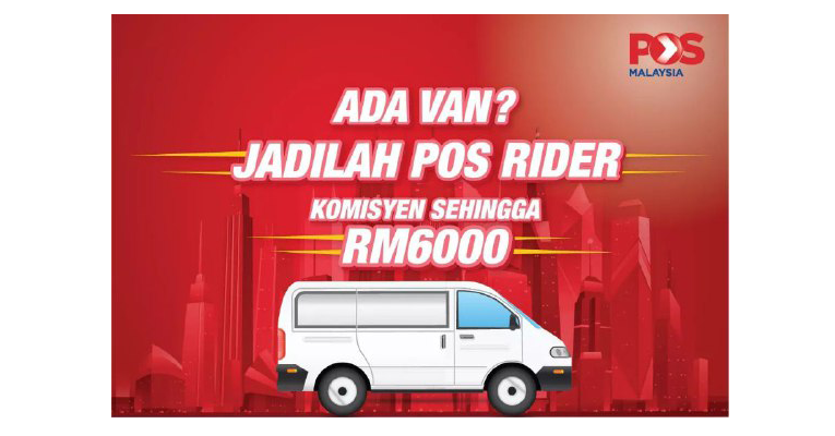 Ada Van Sendiri ? Jadilah Pos Rider,