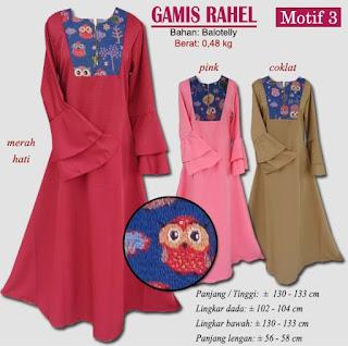 Gamis gaun nan cantik dan anggun - rahel motif 3