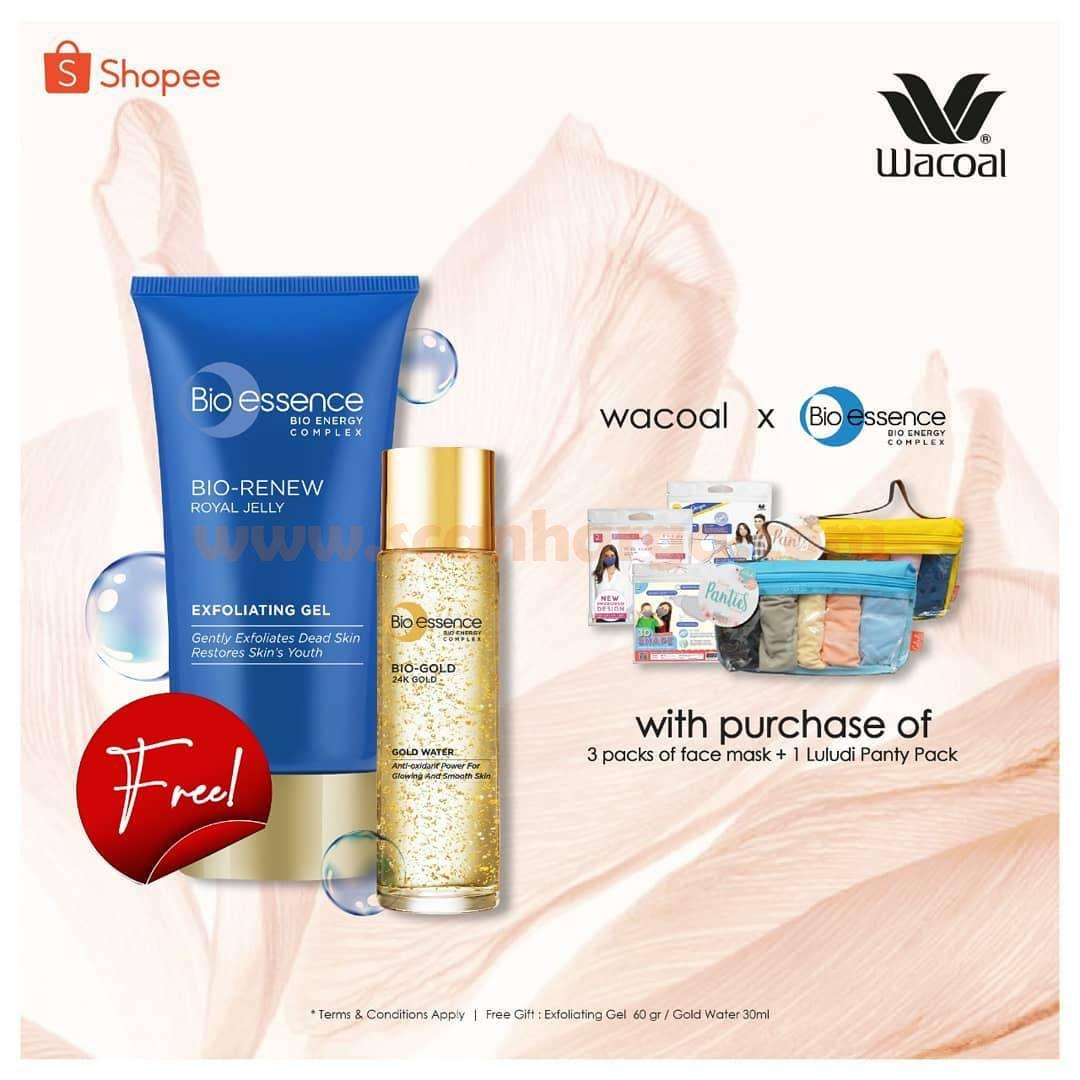 Wacoal Promo Gratis Produk dari Bioessence only on Shopee