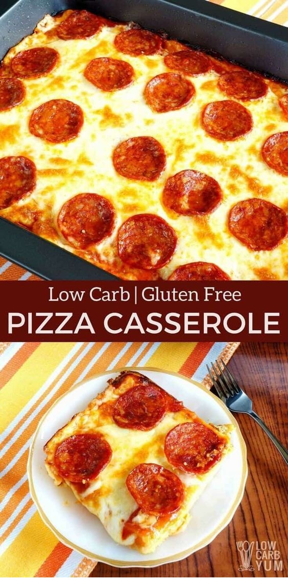 Low Carb Pizza Casserole Recipe
