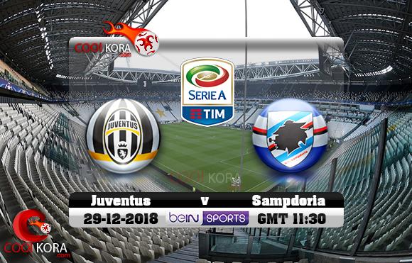 مشاهدة مباراة يوفنتوس وسامبدوريا اليوم 29-12-2018 في الدوري الإيطالي