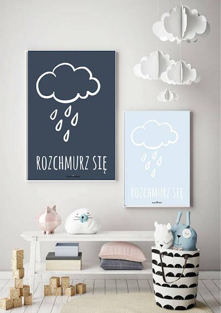 pastelowe plakaty do pokoju dziecka