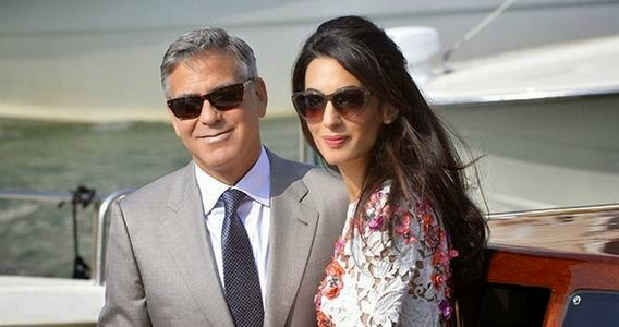 Photos: George Clooney and Amal Alamuddin after their