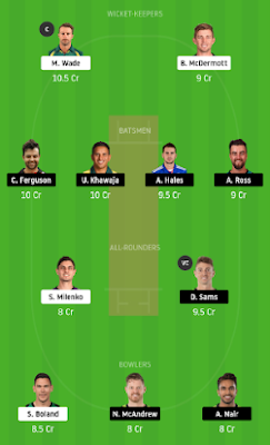 HUR vs THU dream 11 team | THU vs HUR