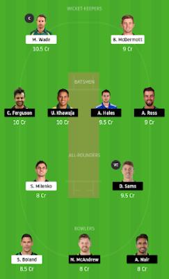 HUR vs THU dream 11 team | THU vs HUR
