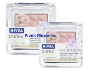 Logo Diventa tester Ombretto Nivea Pure & Natural