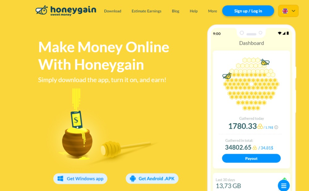 How to earn from honeygain apps