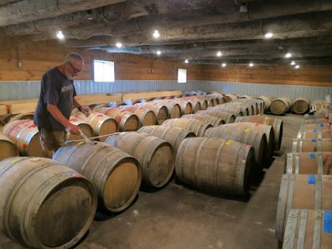 Long Dog Vineyard & Winery - Barrel Room
