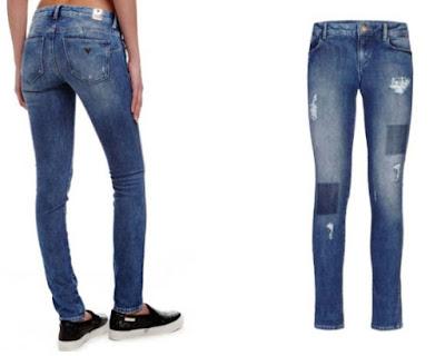 pantalones vaqueros azules de Guess