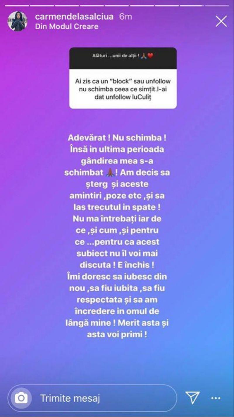 """Carmen de la Sălciua a făcut anunțul despre relația cu Culiță Sterp: """"Am decis să..."""""""