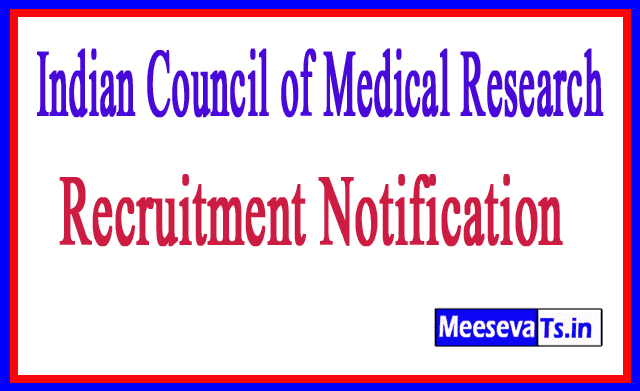 Indian Council of Medical Research ICMR Recruitment