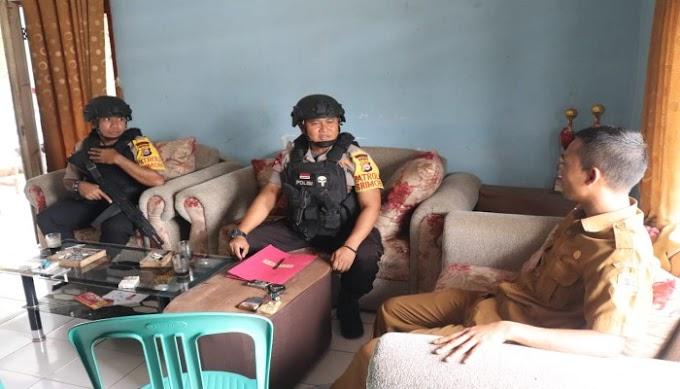 Jalin Komunikasi, Satbrimob Polda Banten Kunjungi Masyakarat