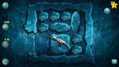передвижение камней внутри для вывода молотка из лабиринта