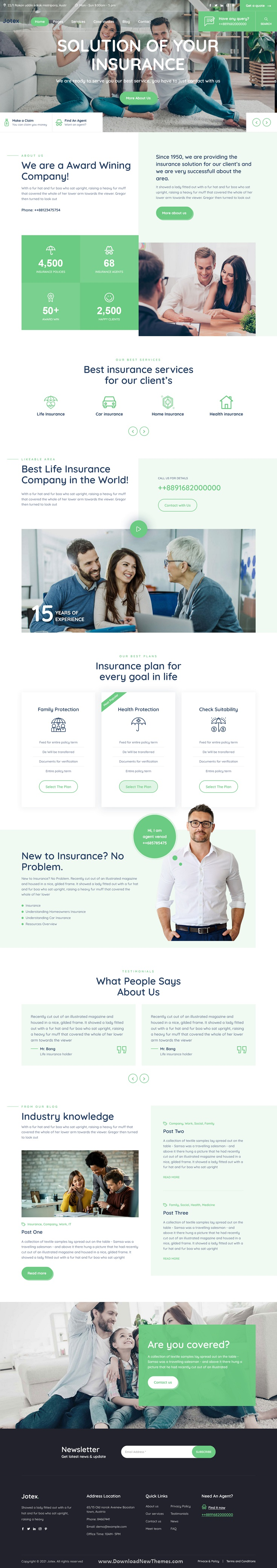 Jotex - Insurance MODX Theme