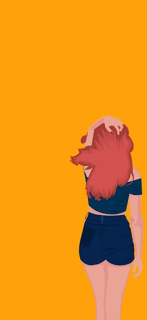 profile cute cartoon girl wallpaper