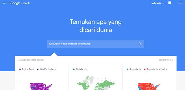 Google Trends sebagai tools pencari kata kunci