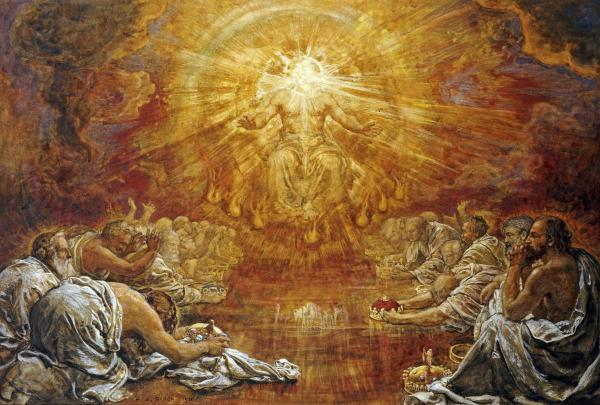 Revelation 44 5 gods heavenly throne room 3 jesus the way around the throne were twenty four thrones and on the thrones i saw twenty four elders sitting clothed in white robes and they had crowns of gold on altavistaventures Gallery