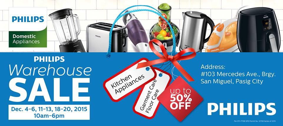 Manila Shopper Philips Domestic Appliances Warehouse Sale December 2015