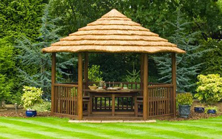 Wooden Roof & Thatched Roof Gazebo: CANVAS ROOF GAZEBO ...
