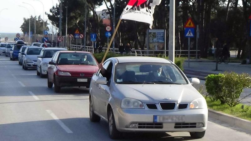 Αλεξανδρούπολη: Με αυτοκινητοπορεία μέλη Σωματείων μετέφεραν το αγωνιστικό μήνυμα της Ημέρας της Υγείας