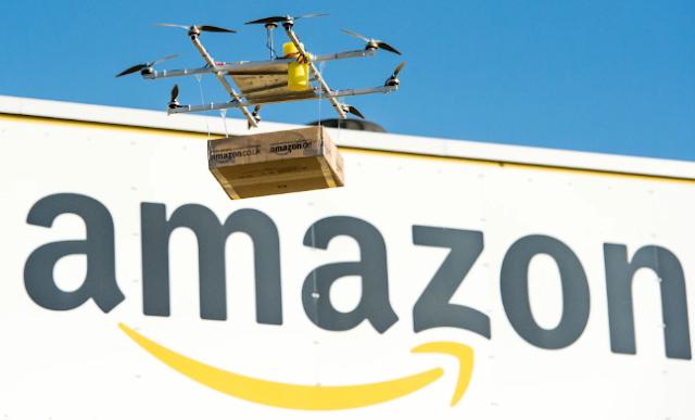 أمازون  تحصل على موافقة رسمية لنقل طائرات التوصيل بدون طيار,امازون تستخدم طائرات التوصيل بدون طيار,امازون تستخدم طائرات,.امازون,طائرات بدون طيار,طائرات من دون طيار,Drones,Amzon,Prime Air