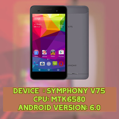 Symphony V75 (MT6580) Firmware File Download Without Password
