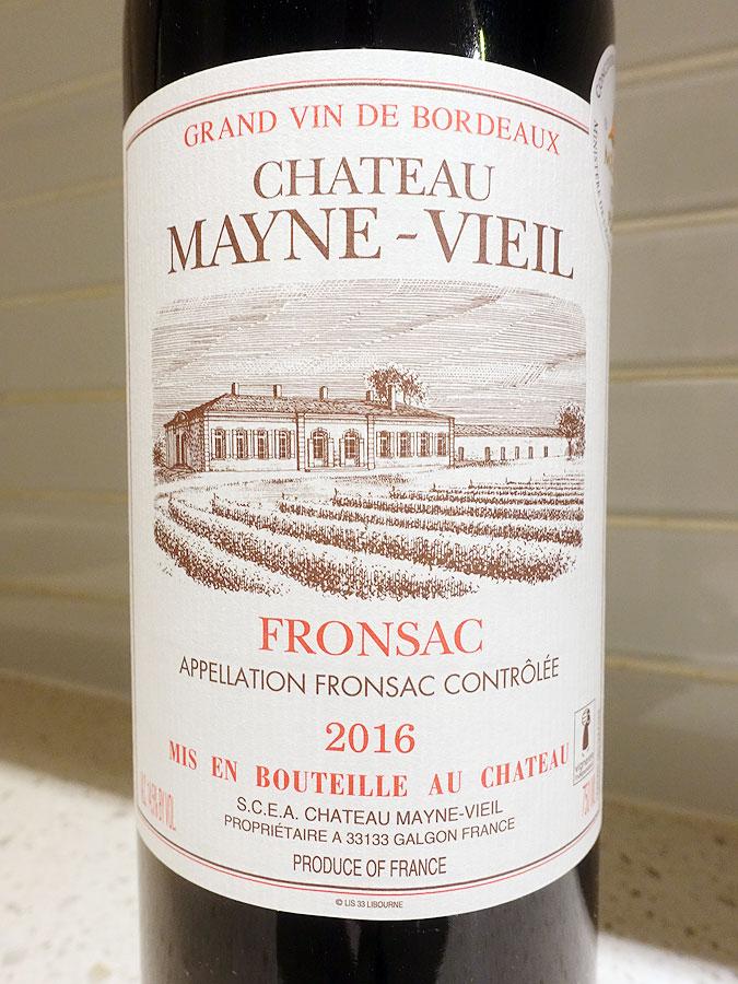 Château Mayne-Vieil 2016