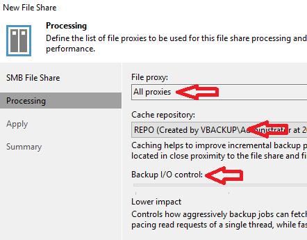 Veeam Backup: NAS backup