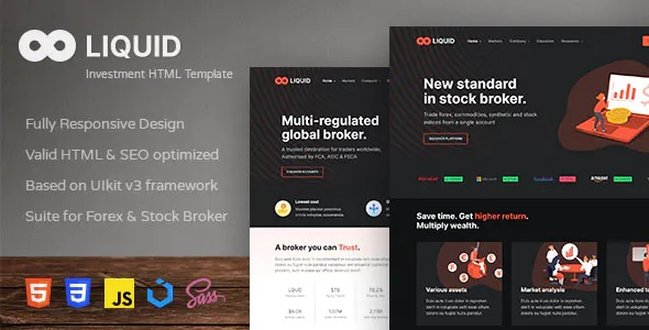 Best Investment and Stock Broker HTML Template