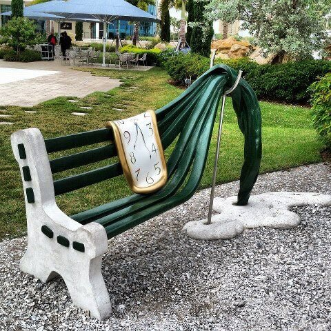 30 Of The World's Most Incredible Sculptures That Took Our Breath Away - Bench artwork The Dali Museum, St. Petersburg Florida, USA