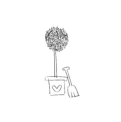 Rysunek drzewka w doniczce.