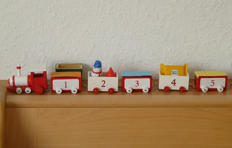 christmas advent calendar train