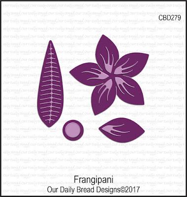 Our Daily Bread Designs Custom Die: Frangipani