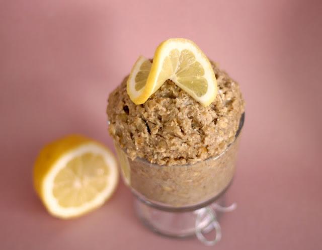 Healthy Lemon Shortbread Cookie Dough - Desserts with Benefits