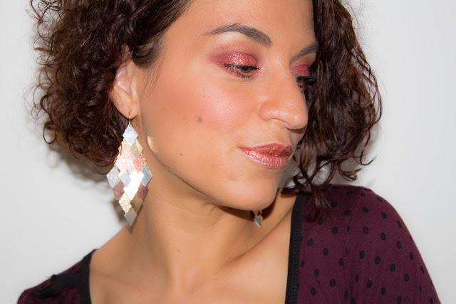 Maquillage de soirée en Rose Gold & Bordeaux