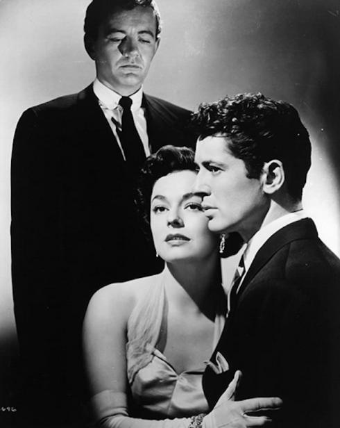 1951. Robert Walker, Ruth Roman, Farley Granger - Strangers on a train