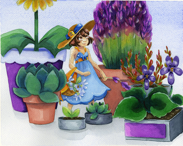 watercolor art, watercolor illustration, kidlit watercolor art