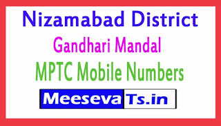 Gandhari Mandal MPTC Mobile Numbers List Nizamabad District in Telangana State