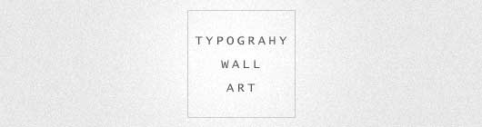 typography wall art examples
