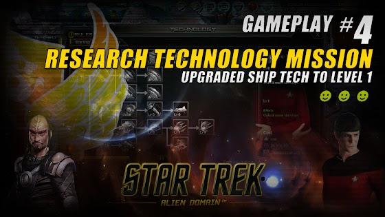 Star Trek Alien Domain ★ Research Technology Mission ★ Upgraded Ship Tech To Level 1