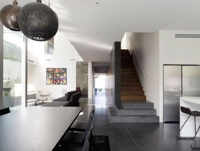 Hogares frescos dise o de interiores en casa de dos pisos for Casas modernas con interiores contemporaneos