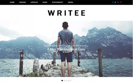 Writee WP Theme