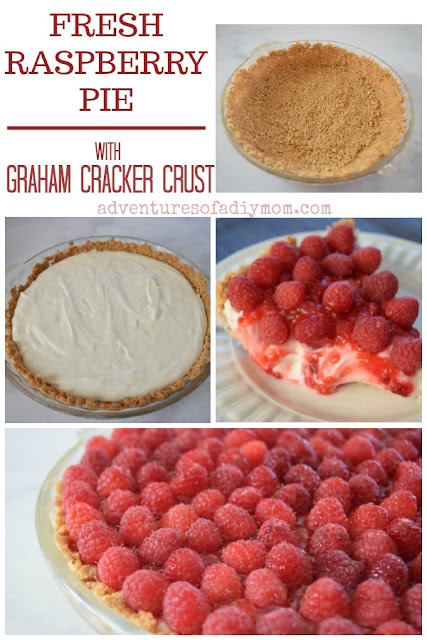 Fresh Raspberry Pie with Graham Cracker Crust
