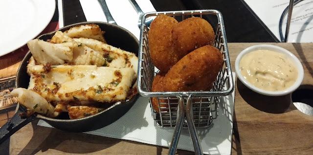 Southbank Progressive Dinner, Southgate Melbourne, La Camera, polenta croquettes, calamari strips