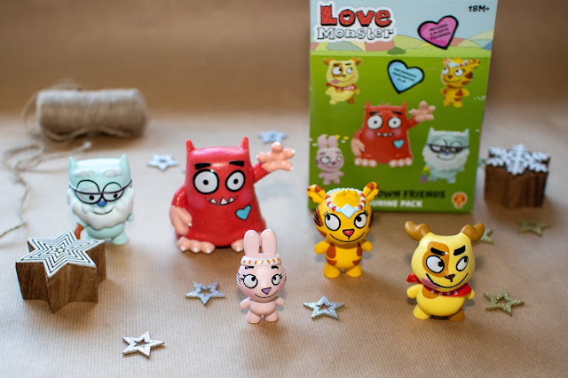 A set of 5 love monster figurines including Love Monster himself obviously